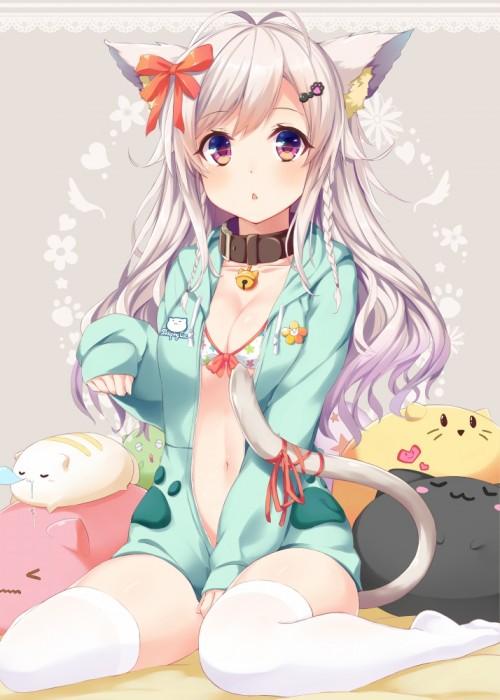 二次 エロ 萌え フェチ けもみみ ねこみみ 猫耳 ねこミミ ネコミミ 尻尾 しっぽ 付け耳 コスプレ 二次エロ画像 nekomimi2016022244