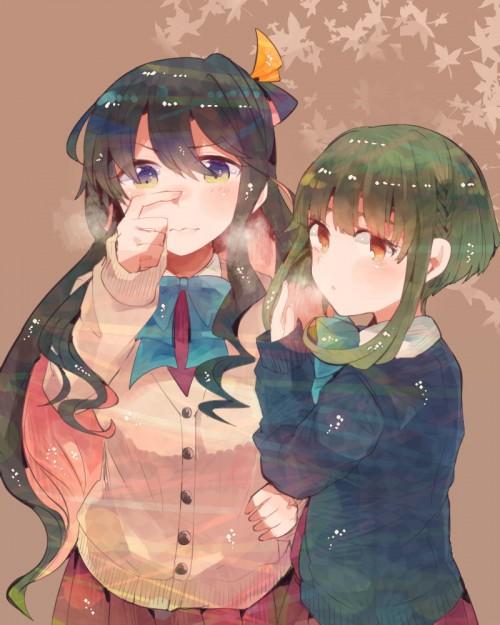 二次 エロ 萌え ゲーム 艦隊これくしょん 艦これ 擬人化 夕雲型駆逐艦 高波 ロリ かも 緑髪 太眉 ショートカット・短髪 かもかも教 ストッキング・タイツ 二次エロ画像  takanamikancolle2016032005