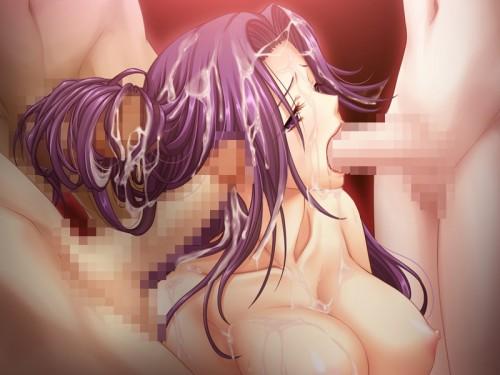 二次 エロ 萌え フェチ 髪コキ フェラチオ 手コキ 顔射 ぶっかけ ザーメン 精子 二次エロ画像 kamikoki2016043001