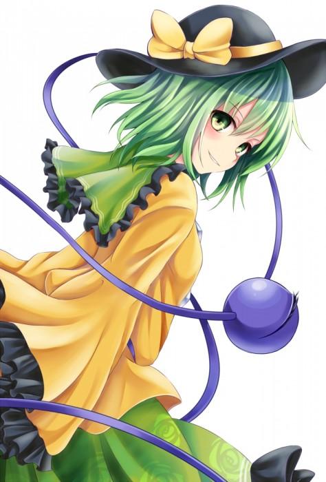 二次 エロ 萌え ゲーム 東方project 古明地こいし 緑髪 帽子 無意識を操る程度の能力 灰色の髪 グリコ 妹 二次エロ画像 komeijikoishi2016042502