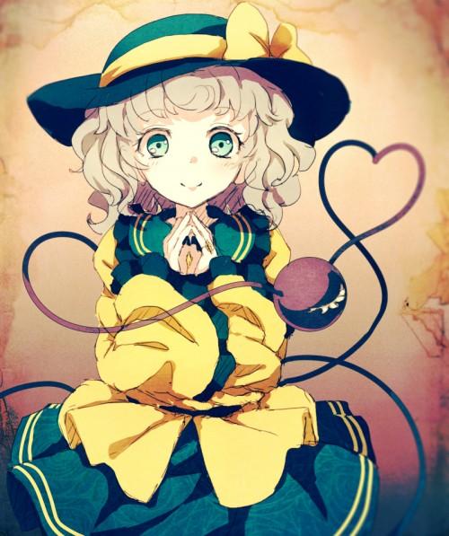 二次 エロ 萌え ゲーム 東方project 古明地こいし 緑髪 帽子 無意識を操る程度の能力 灰色の髪 グリコ 妹 二次エロ画像 komeijikoishi2016042510