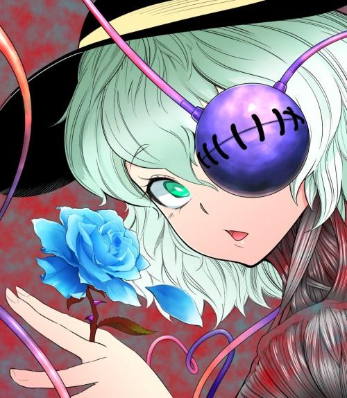 二次 エロ 萌え ゲーム 東方project 古明地こいし 緑髪 帽子 無意識を操る程度の能力 灰色の髪 グリコ 妹 二次エロ画像 komeijikoishi2016042512