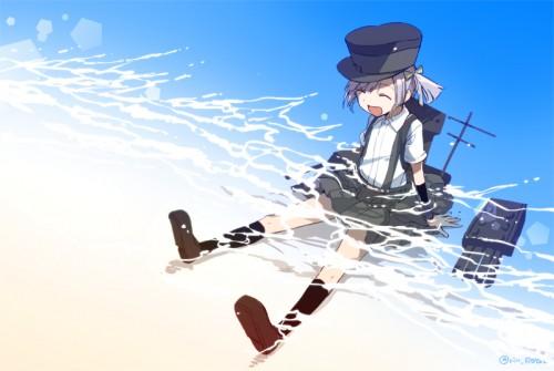 二次 微エロ 萌え ゲーム 艦隊これくしょん 擬人化 艦娘 艦これ 大潮 朝潮型駆逐艦2番艦 サスペンダー ツーサイドアップ ハイソックス リボン ロリ アゲアゲ ちゃんみお 第八駆逐隊 帽子 二次非エロ画像 ooshiokancolle2016041932