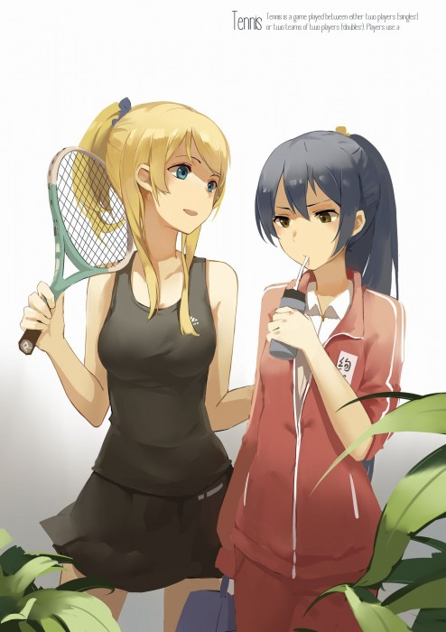 二次 萌え エロ フェチ スポーツ少女 テニスウェア テニスラケット アンダースコート アンスコ バドミントン 見せパン 二次エロ画像 tennis2016042931