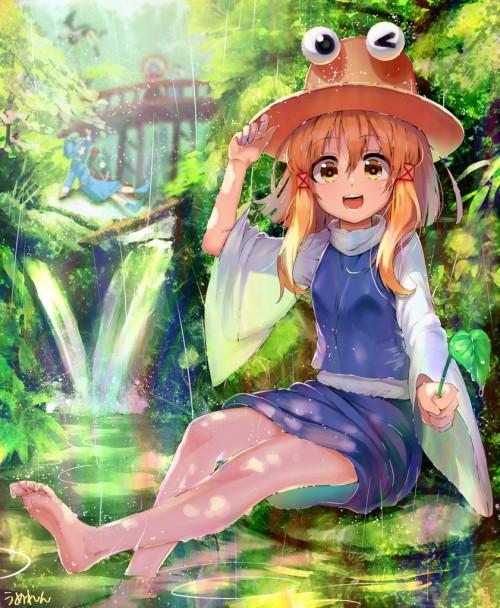 二次 微エロ 萌え フェチ 美少女風景 傘 夏 梅雨 紫陽花 花 濡れてる 透けてる 二次微エロ画像 ame2016060138