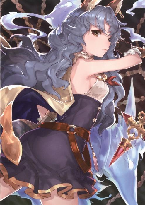 二次 エロ 萌え フェチ ゲーム グランブルーファンタジー グラブル フェリ 幽想の少女 幽霊 青髪 けもみみ パーマ・ウェーブ 横乳 ハミ乳 二次エロ画像 ferrigranbluefantasy2016050312