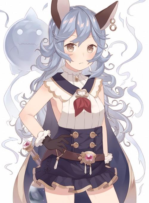 二次 エロ 萌え フェチ ゲーム グランブルーファンタジー グラブル フェリ 幽想の少女 幽霊 青髪 けもみみ パーマ・ウェーブ 横乳 ハミ乳 二次エロ画像 ferrigranbluefantasy2016050322