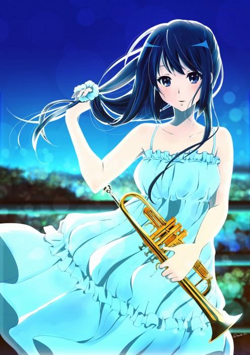 二次 非エロ 萌え 楽器 ヘッドフォン ギター 管楽器 弦楽器 笛 ピアノ ヴァイオリン ドラム 美少女風景 二次非エロ画像 gakki10020160527005