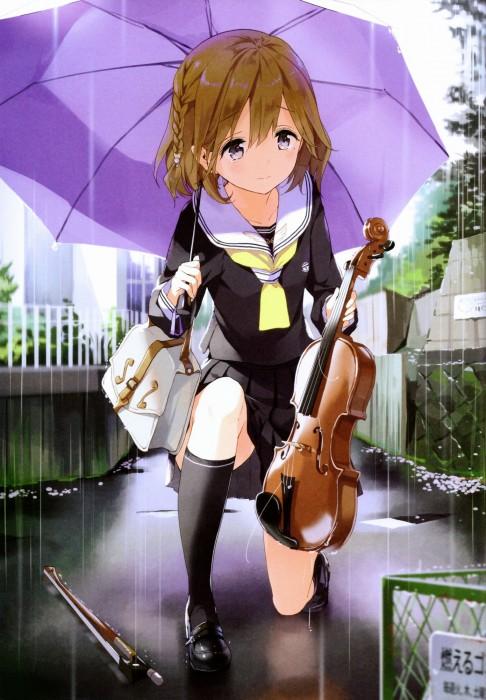 二次 非エロ 萌え 楽器 ヘッドフォン ギター 管楽器 弦楽器 笛 ピアノ ヴァイオリン ドラム 美少女風景 二次非エロ画像 gakki10020160527006