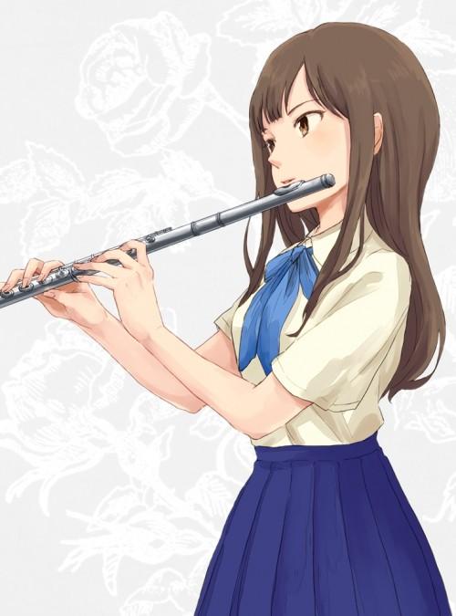 二次 非エロ 萌え 楽器 ヘッドフォン ギター 管楽器 弦楽器 笛 ピアノ ヴァイオリン ドラム 美少女風景 二次非エロ画像 gakki10020160527040