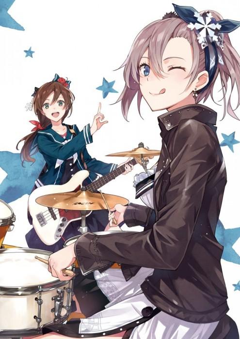 二次 非エロ 萌え 楽器 ヘッドフォン ギター 管楽器 弦楽器 笛 ピアノ ヴァイオリン ドラム 美少女風景 二次非エロ画像 gakki10020160527061