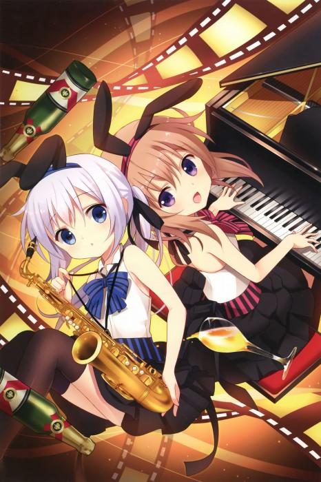 二次 非エロ 萌え 楽器 ヘッドフォン ギター 管楽器 弦楽器 笛 ピアノ ヴァイオリン ドラム 美少女風景 二次非エロ画像 gakki10020160527070