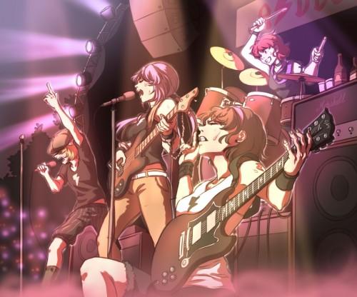 二次 非エロ 萌え 楽器 ヘッドフォン ギター 管楽器 弦楽器 笛 ピアノ ヴァイオリン ドラム 美少女風景 二次非エロ画像 gakki10020160527091