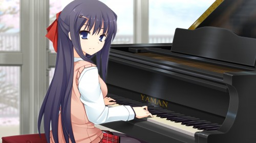 二次 非エロ 萌え 楽器 ヘッドフォン ギター 管楽器 弦楽器 笛 ピアノ ヴァイオリン ドラム 美少女風景 二次非エロ画像 gakki10020160527092