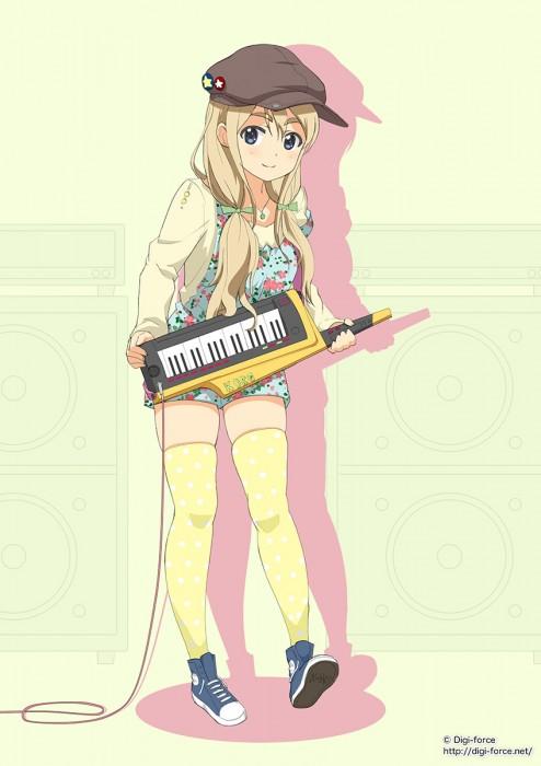 二次 非エロ 萌え 楽器 ヘッドフォン ギター 管楽器 弦楽器 笛 ピアノ ヴァイオリン ドラム 美少女風景 二次非エロ画像 gakki10020160527097