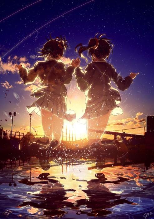 二次 非エロ 萌え ゲーム アイドルマスター アイマス IDOLM@STER アニメ 姉妹 双子 ロリ 双海亜美 双海真美 女子中学生 サイドテール 二次非エロ画像 hutamiamimami2016052401