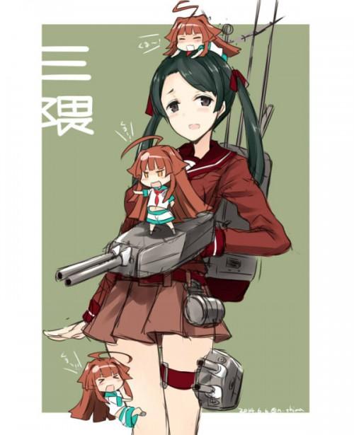二次 エロ 萌え フェチ 艦隊これくしょん 擬人化 最上型重巡洋艦 三隈 セーラー服 ツインテール くまりんこ 黒髪 もがみん リボン 二次エロ画像 mikumakancolle2016053116