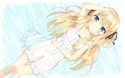 二次 エロ 萌え フェチ ワンピース服 白ワンピ サンドレス スリーブレスドレス 透けてる サマードレス 二次エロ画像 onepiecehuku2016051412