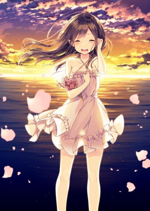 二次 エロ 萌え フェチ ワンピース服 白ワンピ サンドレス スリーブレスドレス 透けてる サマードレス 二次エロ画像 onepiecehuku2016051422