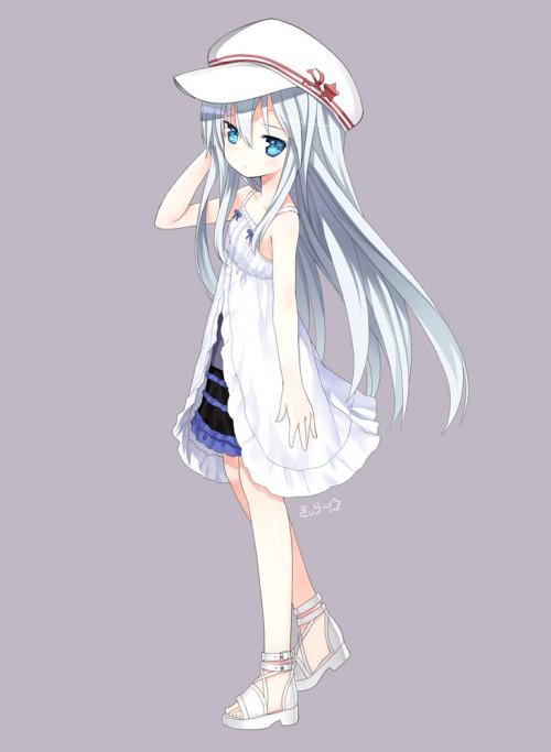 二次 エロ 萌え フェチ ワンピース服 白ワンピ サンドレス スリーブレスドレス 透けてる サマードレス 二次エロ画像 onepiecehuku2016051433