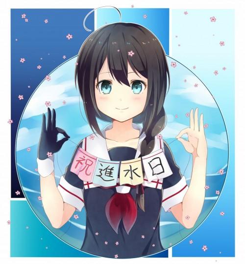 二次 エロ 萌え ゲーム 艦隊これくしょん 艦これ セーラー服 時雨 三つ編み ロリ ボクっ娘 はいてない 天使 二次エロ画像 shigurekancolle2016052101