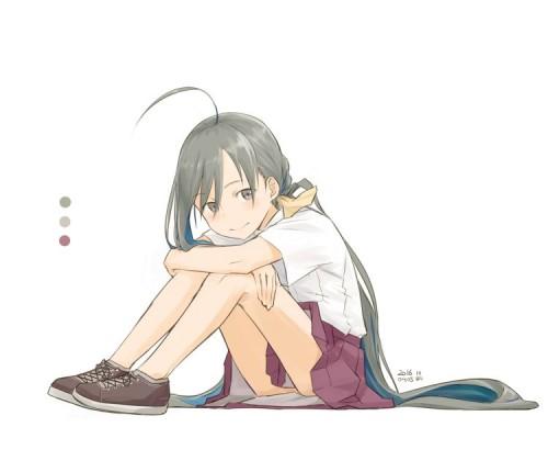 二次 エロ 萌え フェチ 体育座り 三角座り 体操座り 膝を抱えて座ってる 姿勢  パンチラ 太もも 脚 パンツ 下着  しゃがみパンチラ しゃがんでる 座ってる はいてない 太もも 膝 二次エロ画像 taiikusuwari2016062405