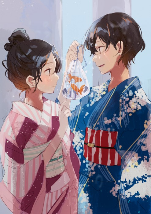 二次 萌え エロ フェチ 和服 着物 浴衣 はだけた 花火 脱衣 季節 夏 お祭り 二次エロ画像 yukata2016062535