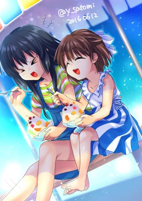 二次 非エロ 萌え フェチ 美少女風景 夏 暑い アイスクリーム カキ氷 季節 二次エロ画像 kakigoori2016080105