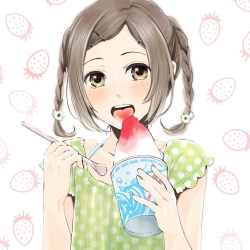 二次 非エロ 萌え フェチ 美少女風景 夏 暑い アイスクリーム カキ氷 季節 二次エロ画像 kakigoori2016080137