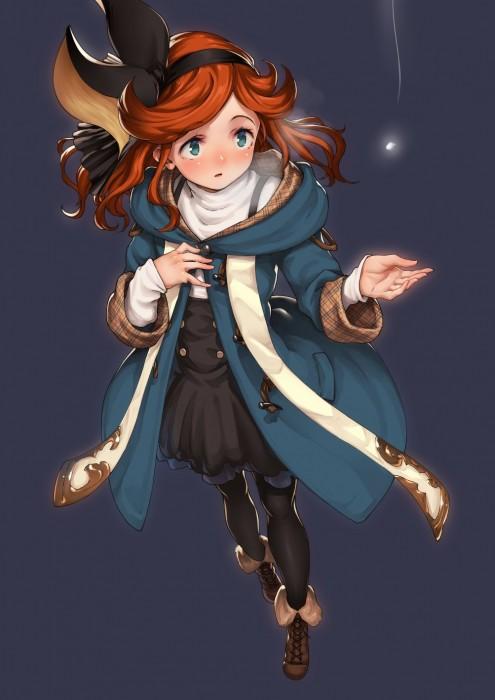 二次 エロ 萌え フェチ ゲーム グランブルーファンタジー グラブル サラ ロリ 貧乳 赤髪 リボン パーマ・ウェーブ 9歳 神撃のバハムート 砂神の巫女 二次エロ画像 saragranbluefantasy2016073104