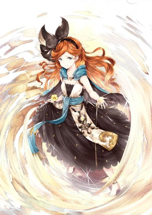 二次 エロ 萌え フェチ ゲーム グランブルーファンタジー グラブル サラ ロリ 貧乳 赤髪 リボン パーマ・ウェーブ 9歳 神撃のバハムート 砂神の巫女 二次エロ画像 saragranbluefantasy2016073142