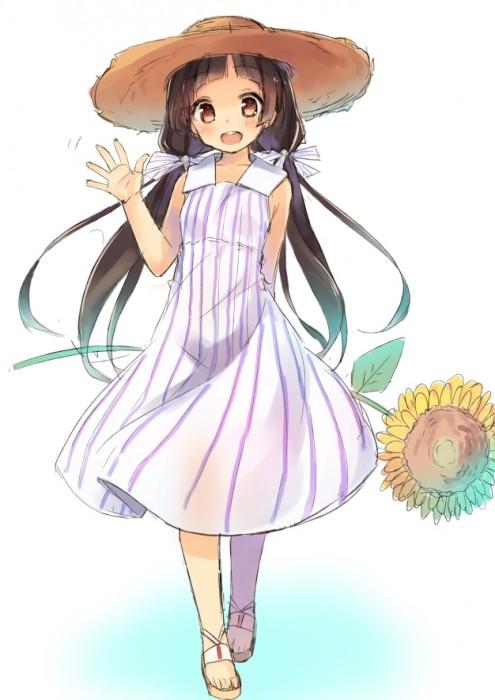 二次 エロ 萌え フェチ 帽子 麦わら帽子 水着 ワンピース服 夏 二次エロ画像 strawhat2016072643
