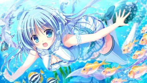 二次 非エロ 萌え フェチ 水着 ビキニ スク水 水中 深海少女 二次非エロ画像 suichuu2016070607