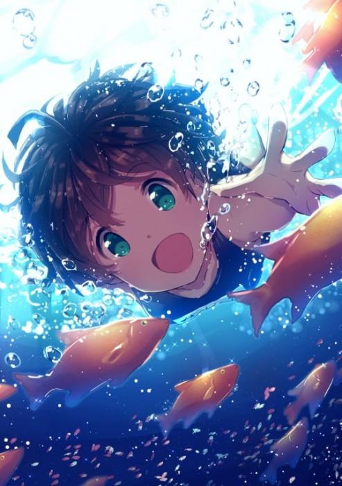 二次 非エロ 萌え フェチ 水着 ビキニ スク水 水中 深海少女 二次非エロ画像 suichuu2016070609