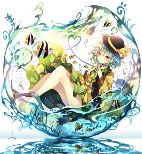 二次 非エロ 萌え フェチ 水着 ビキニ スク水 水中 深海少女 二次非エロ画像 suichuu2016070627