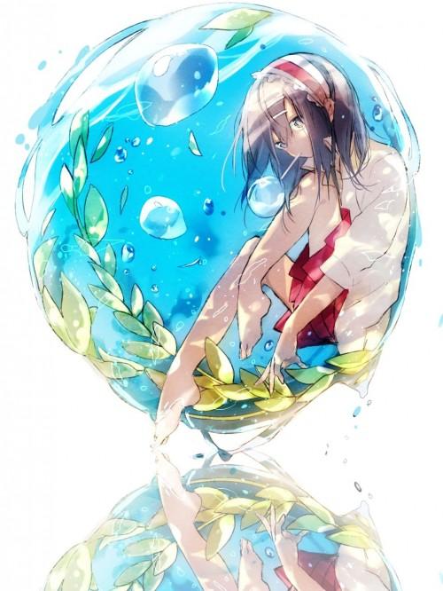 二次 非エロ 萌え フェチ 水着 ビキニ スク水 水中 深海少女 二次非エロ画像 suichuu2016070629