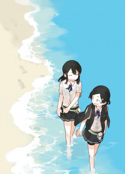 二次 エロ 萌え フェチ 美少女風景 水着 ビキニ スクール水着 ビーチ 海 砂浜 日差し 青空 太陽 二次エロ画像 umi10020160718074