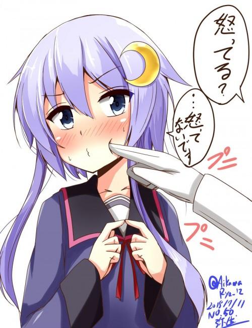 二次 エロ 萌え ゲーム 艦隊これくしょん 艦これ 擬人化 ロリ 弥生 薄紫髪 セーラー服 腹チラ 少女 ょぅι゛ょ 怒ってなんかないよ、怒ってなんか… 二次エロ画像 yayoikancolle2016071319