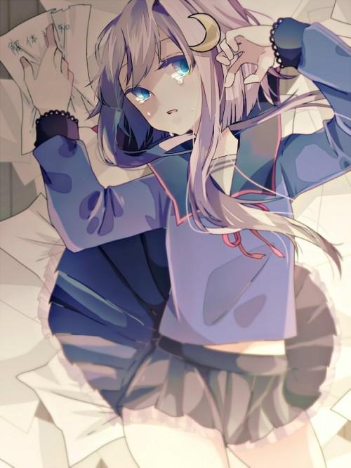 二次 エロ 萌え ゲーム 艦隊これくしょん 艦これ 擬人化 ロリ 弥生 薄紫髪 セーラー服 腹チラ 少女 ょぅι゛ょ 怒ってなんかないよ、怒ってなんか… 二次エロ画像 yayoikancolle2016071324