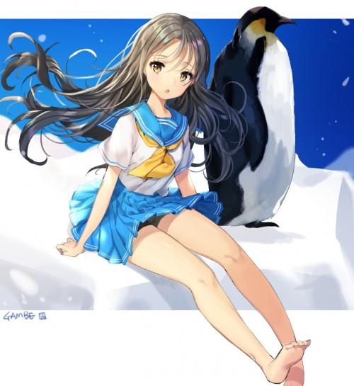 二次 エロ 美脚 萌え フェチ 生足 生脚 素足 裸足 頬ずりしたくなる足 太もも ふくらはぎ 足裏 足を組んでいる 裸足 滑々艶々 二次エロ画像 namaashi2016091704