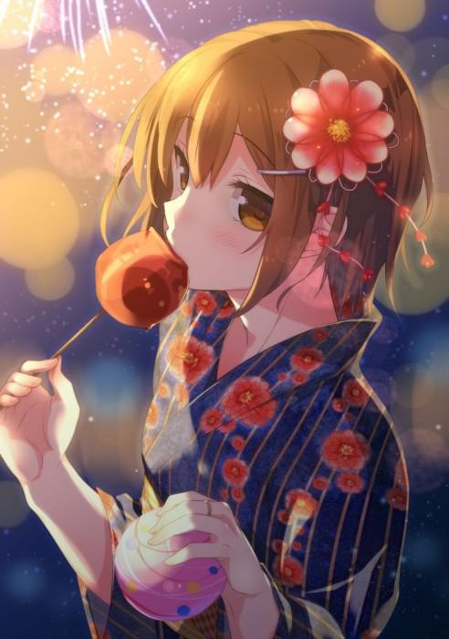 二次 萌え エロ フェチ 和服 着物 浴衣 はだけた 花火 脱衣 季節 夏 お祭り 二次エロ画像 yukata2016090801