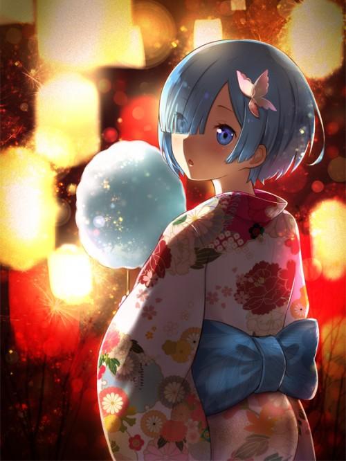 二次 萌え エロ フェチ 和服 着物 浴衣 はだけた 花火 脱衣 季節 夏 お祭り 二次エロ画像 yukata2016090809
