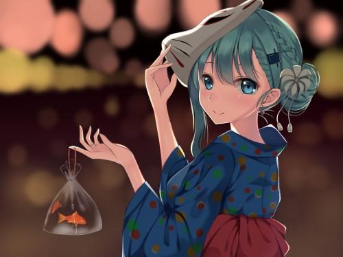 二次 萌え エロ フェチ 和服 着物 浴衣 はだけた 花火 脱衣 季節 夏 お祭り 二次エロ画像 yukata2016090833