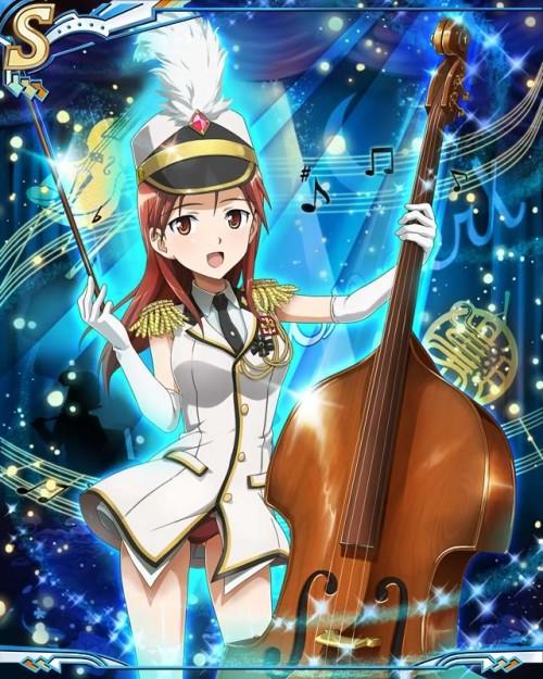 二次 非エロ 萌え 楽器 ヘッドフォン ベース コントラバス 美少女風景 二次非エロ画像 bass20161111004