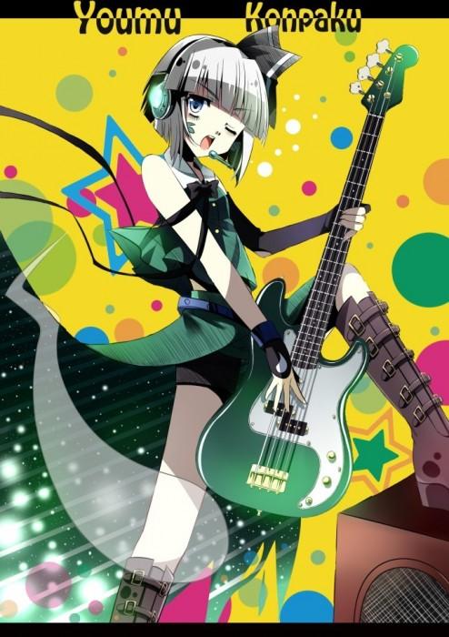 二次 非エロ 萌え 楽器 ヘッドフォン ベース コントラバス 美少女風景 二次非エロ画像 bass20161111015