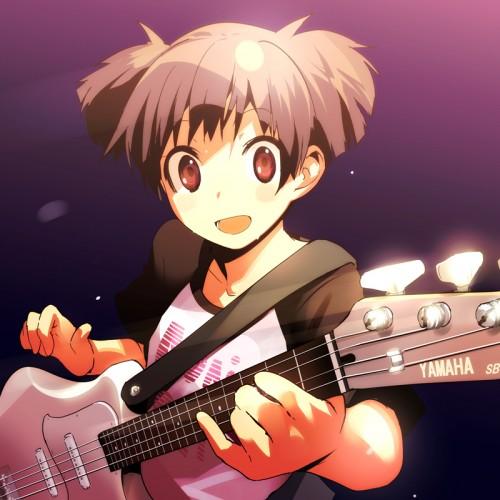 二次 非エロ 萌え 楽器 ヘッドフォン ベース コントラバス 美少女風景 二次非エロ画像 bass20161111026