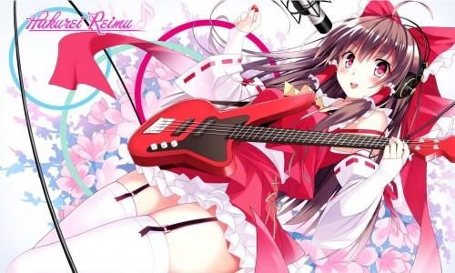 二次 非エロ 萌え 楽器 ヘッドフォン ベース コントラバス 美少女風景 二次非エロ画像 bass20161111028