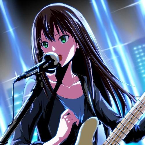 二次 非エロ 萌え 楽器 ヘッドフォン ベース コントラバス 美少女風景 二次非エロ画像 bass20161111032