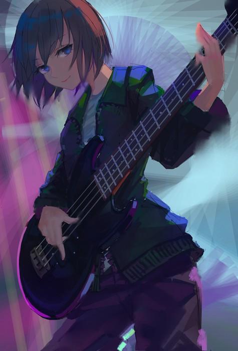二次 非エロ 萌え 楽器 ヘッドフォン ベース コントラバス 美少女風景 二次非エロ画像 bass20161111042