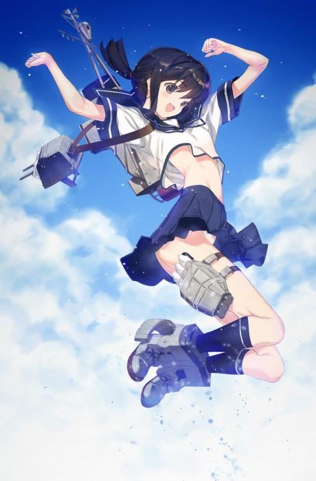 二次 エロ 萌え ゲーム 艦隊これくしょん 擬人化 艦娘 艦これ 吹雪 セーラー服 黒髪 パンツ パンチラ パンツ!パンツです! ふぶなんとかさん 空気 主人公(笑) 二次エロ画像 hubukikancolle10020161117080